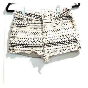 PAC Sun Bullhead black & white frayed  shorts Sz 5